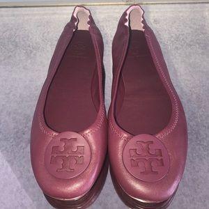 💕Tory Burch NWT Minnie leather travel Ballet flat